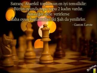 Satranç Ataerkil toplumun en iyi temsilidir
